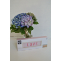 """Packaging décoration lumineuse rose """"LOVE"""""""