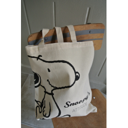 "Tote Bag ""Snoopy's ATTITUDE "" 100% coton naturel"