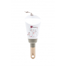 """Lampe Nomade """"Passe-Partout taupe """"Chat Miou Miou"""""""