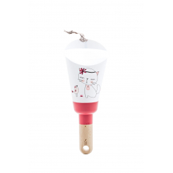 "Lampe Nomade ""Passe-Partout framboise ""Chat Miou Miou"""